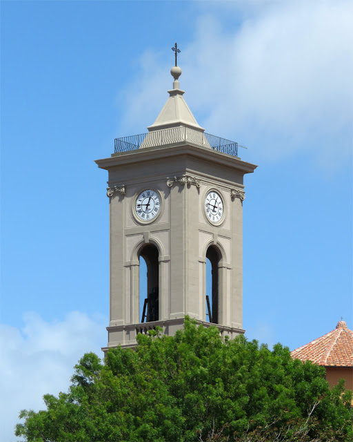 The bell tower of the church of San Ferdinando (Saint Ferdinand), seen from Scali delle Ancore, Livorno