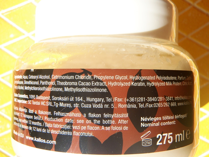 Kallos full repair hair mask, Kallos maska czekoladowa