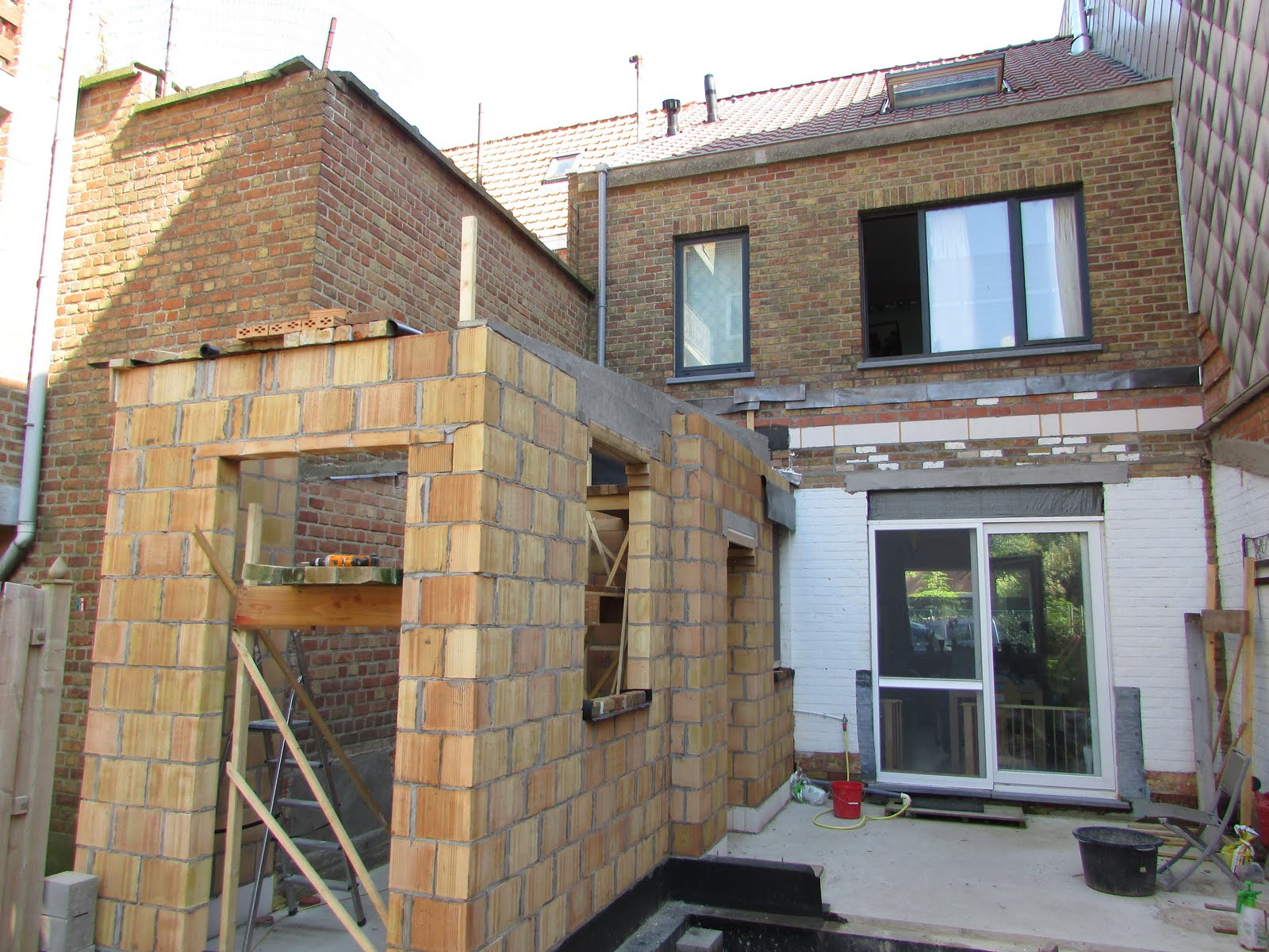 Uitbreiding Aan Huis : Verbouwing van ons ouderlijk huis ruwbouw uitbreiding