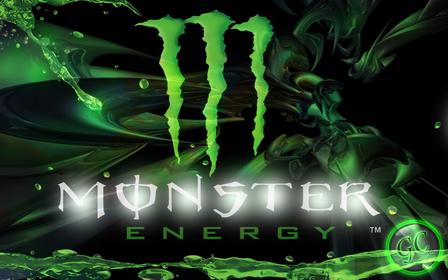 Group Of Flashing Monster Energy Drink Wallpaper