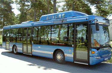 Sl bussar far biogas fran kappalaverket