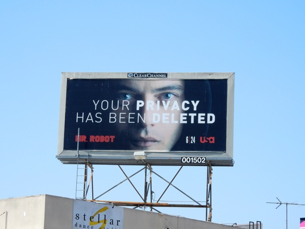 Mr Robot privacy deleted billboard