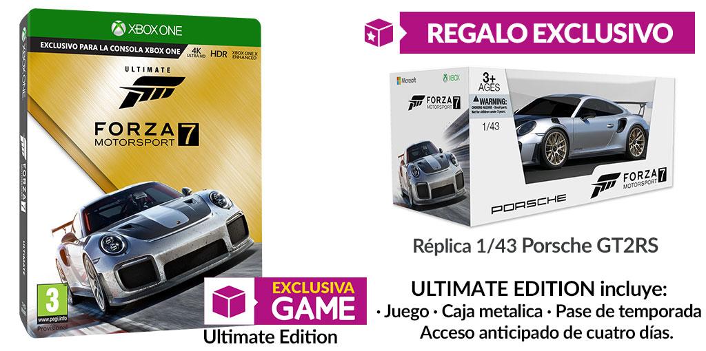 Forza MotorSport 7 cuenta con edición Ultimate en GAME con una réplica espectacular