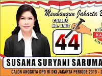 Susana Suryani Sarumaha , Srikandi Ono Niha Calon DPD DKI Jakarta