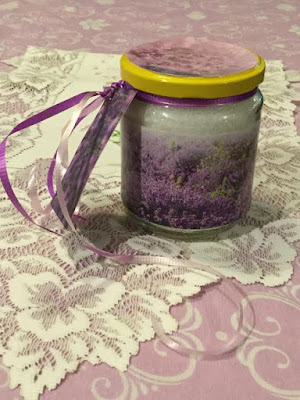 Lavender bath salts gift jar