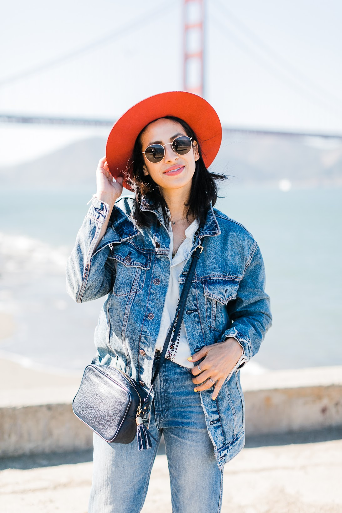 Lucky brand, San Francisco, Canadian tuxedo, fall style, all denim
