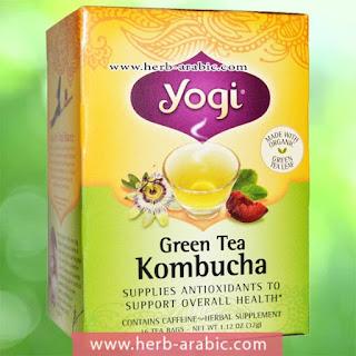 شاي اخضر بالكمبوتشا