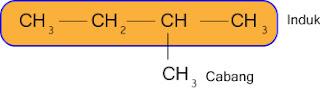 cara memberi nama senyawa alkana