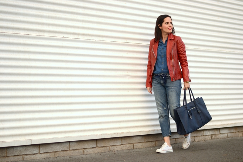 red-biker-jacket--converse-denim-outfit-street-style