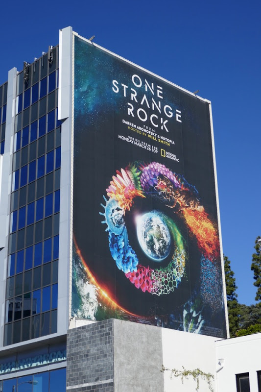 Giant One Strange Rock TV billboard