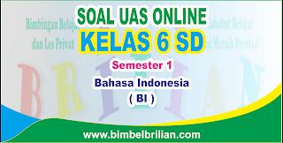 Soal UAS Bahasa Indonesia Online Kelas 6 SD Semester 1 ( Ganjil ) - Langsung Ada Nilainya
