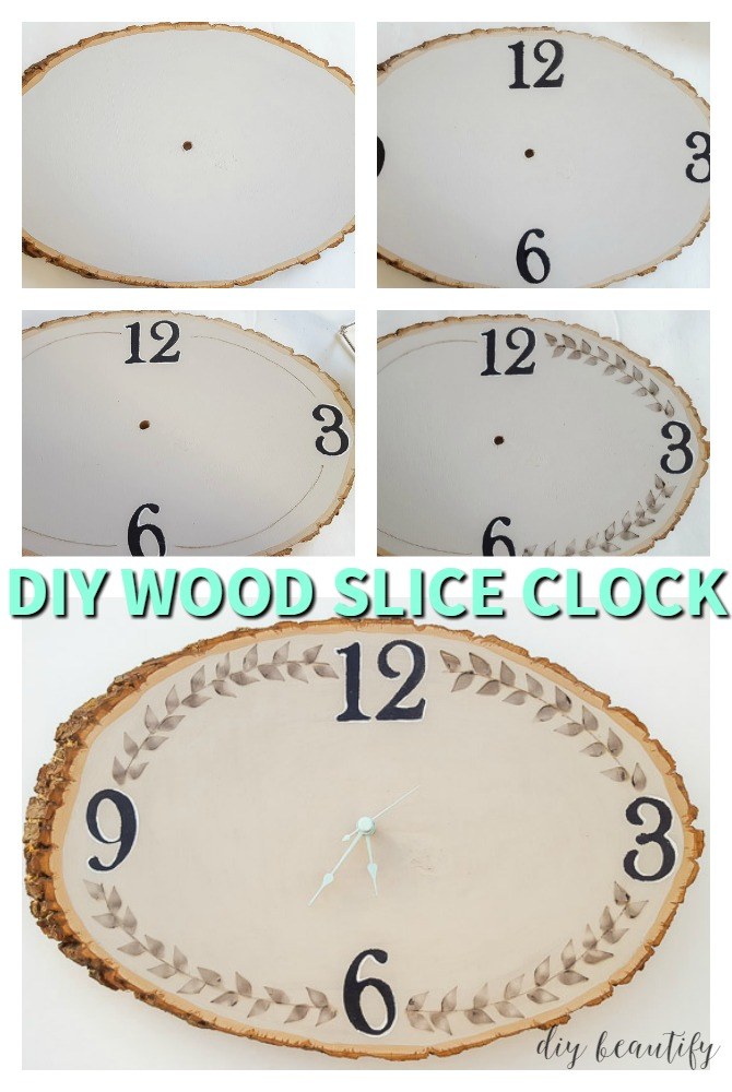 steps to make a wood slick clock