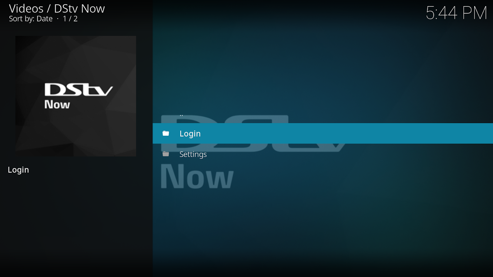 DStv Now Kodi Add-on