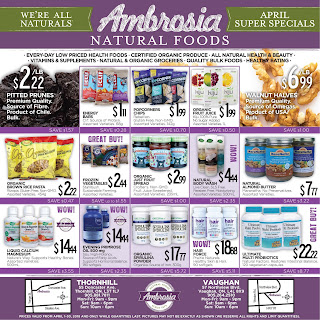 Ambrosia Natural Foods Flyer April 1 - 30, 2018