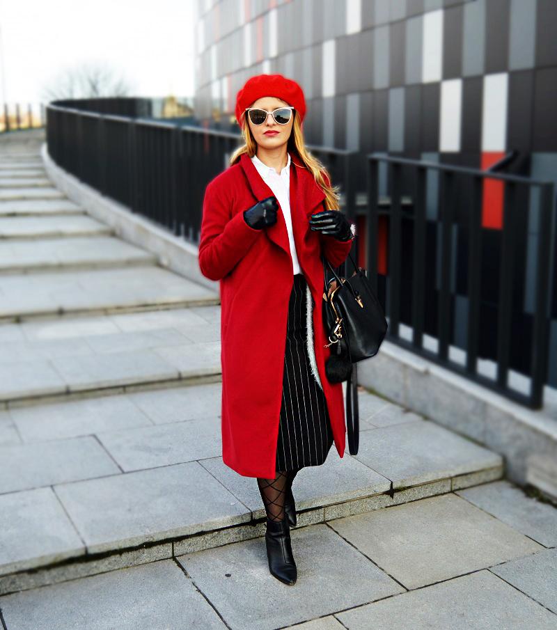 Jak nosić czerwony beret? I How to wear beret? my wardrobe.