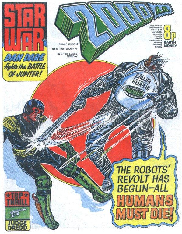 Image result for judge dredd robots cover