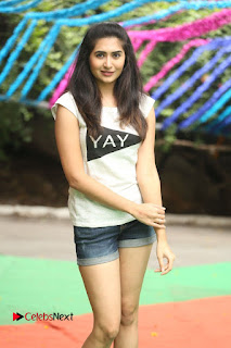 Actress Vyoma Nandi  Pictures in Shorts at Haritha Haram Event  0058