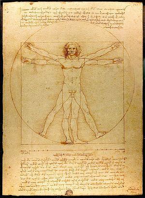 Hombre de Vitruvio, Da Vinci