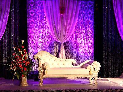 Utiliza el damasco para el backdrop de tu boda - Foto: Pinterest