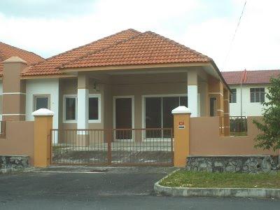 contoh rumah teres 1 tingkat - axis ki piye