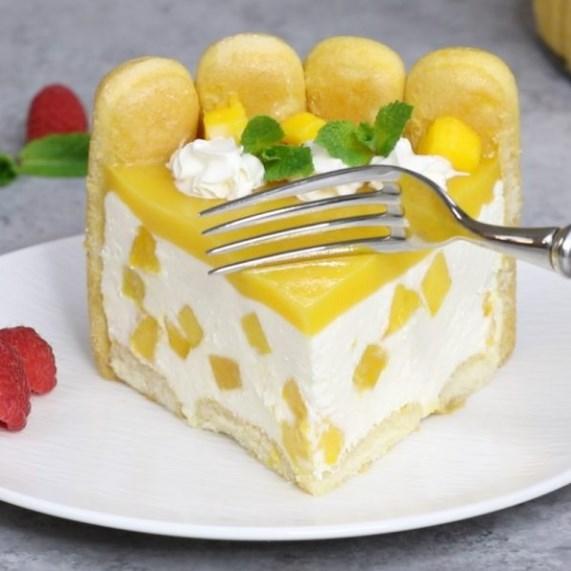 No Bake Mango Cheesecake #fruityflavor #dessertparty