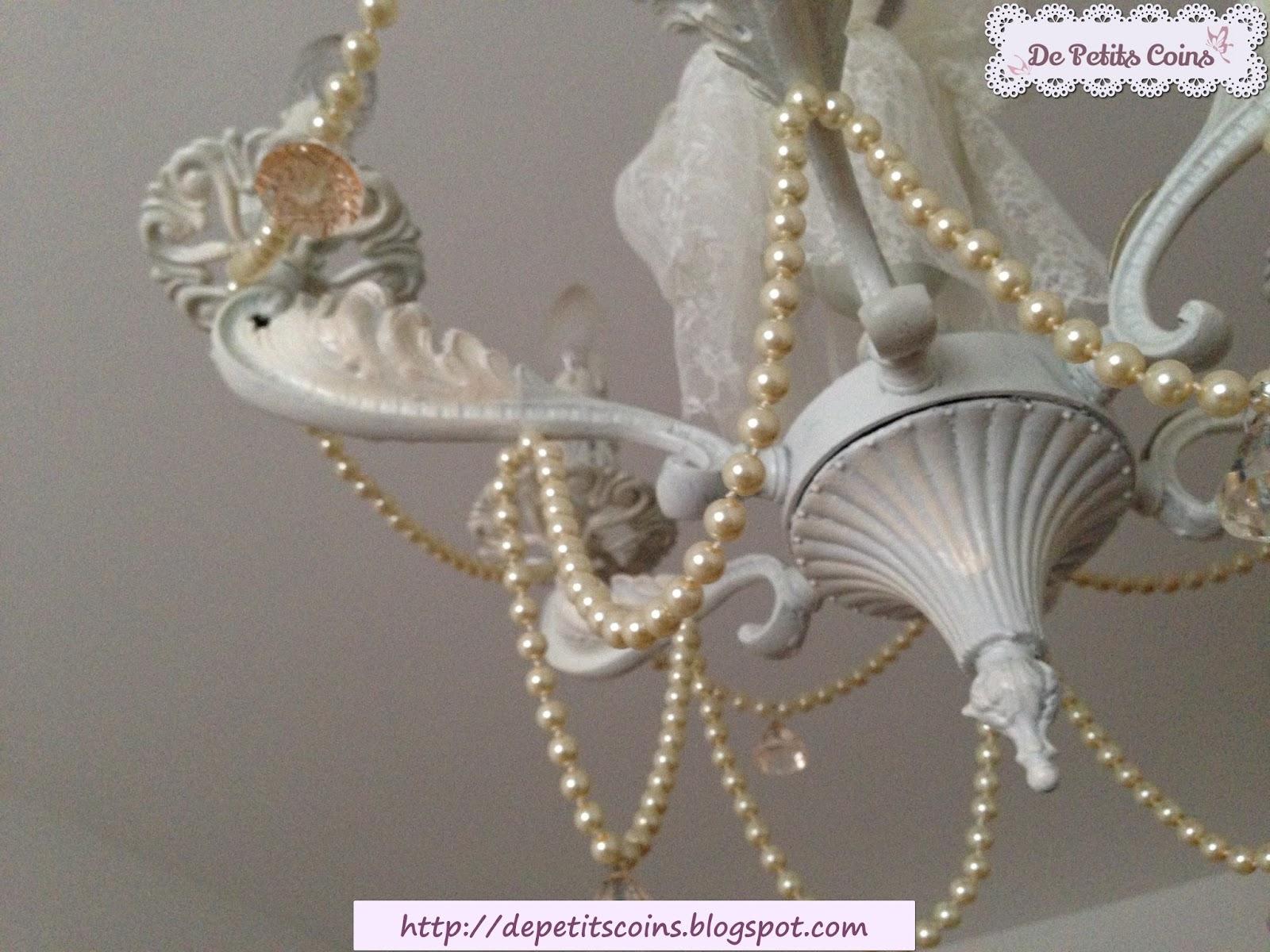 lampadario bianco romantico