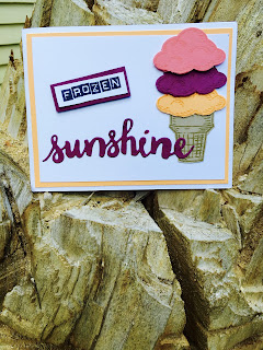 Summer ice cream cone from Sprinkles of Life with Sunshine Wishes thinlits