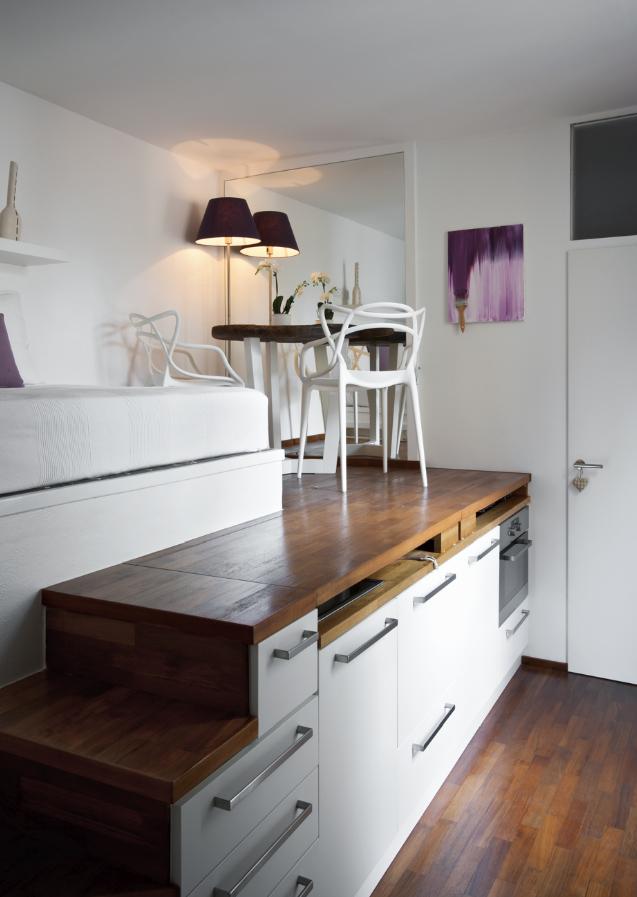 Conosciuto BOISERIE & C.: Living Small: miniappartamento monolocale di 15 mq AR49
