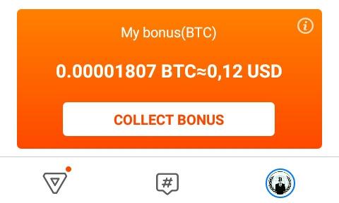 "Kumpulkan Power sebanyak-banyaknya, dan otomatis esok harinya Power yang Anda dapatkan akan ditukarkan denga Bitcoin (BTC). Silahkan pilih ""Collect Bonus"" untuk mengambil hadiah. BTC yang diperoleh tergantung PWR yang Anda kumpulkan, semakin banyak PWR maka semakin banyak PWR."