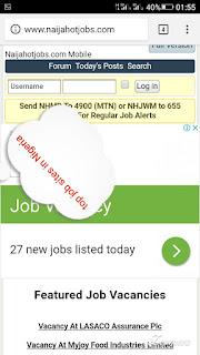 Sites for job recruitment