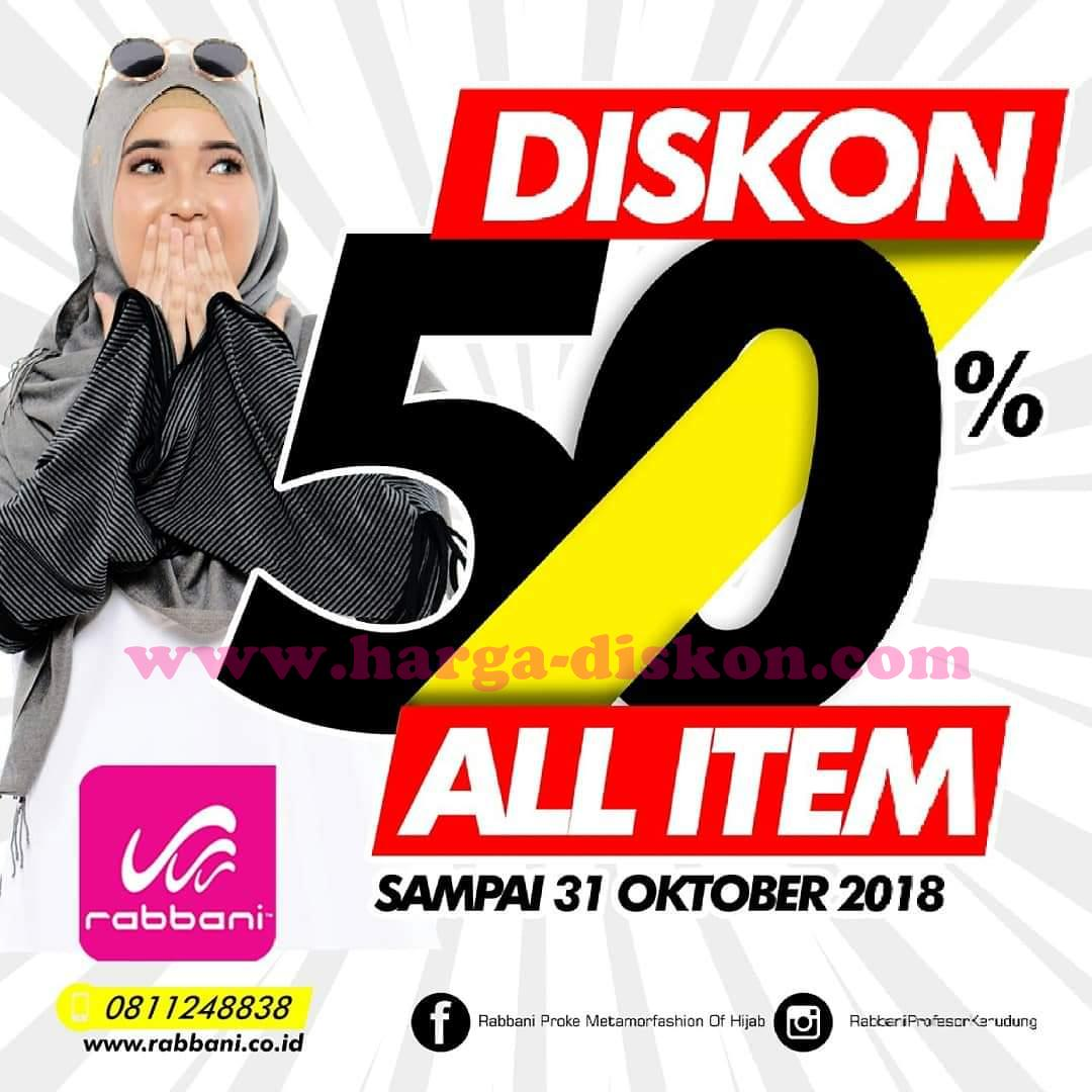 Promo RABBANI Terbaru Diskon 50% All Item Periode 22 – 31 Oktober 2018