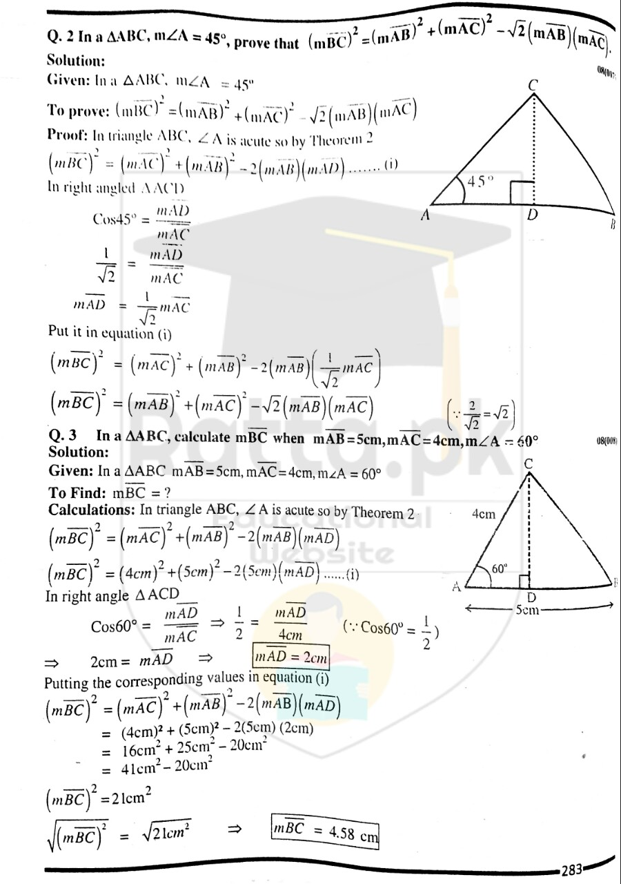 10th Maths Misc. Exercise 8 Solved Obectives 2