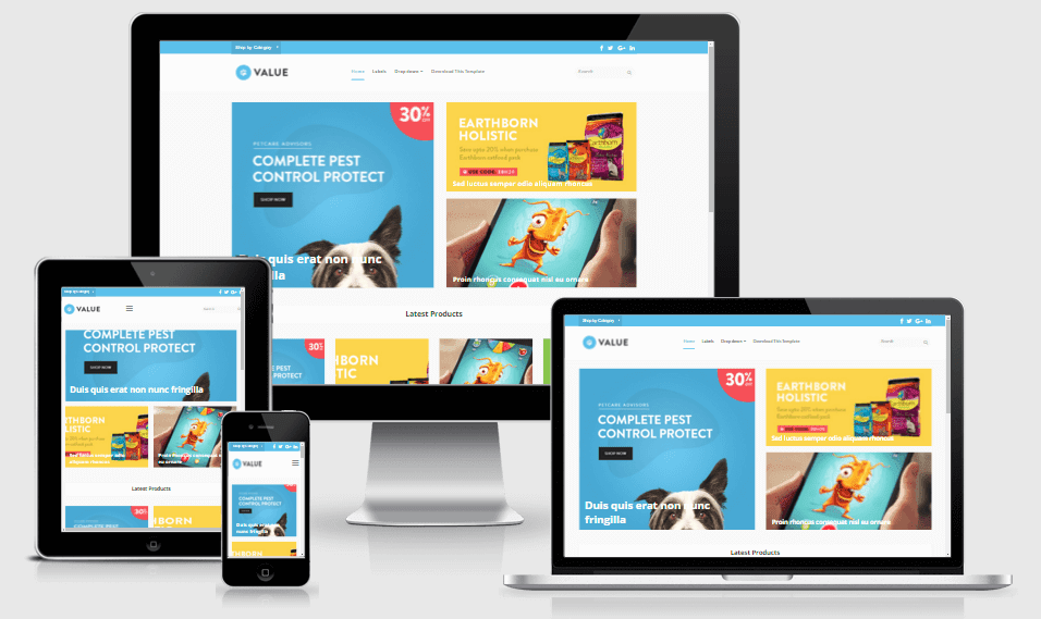 Value - Responsive e-Commerce Business Blogger Template