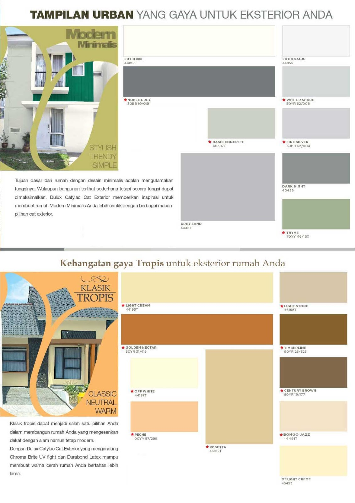 Cat Catylac Warna Cat Tembok Exterior | Joy Studio Design Gallery - Best Design