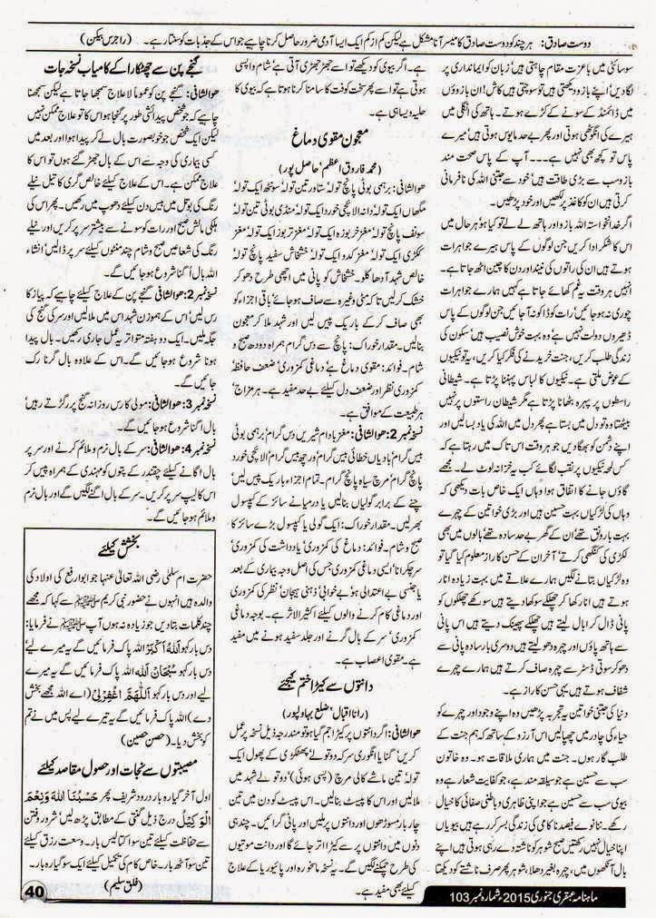 January 2015 Ubqari Magazine Page 40