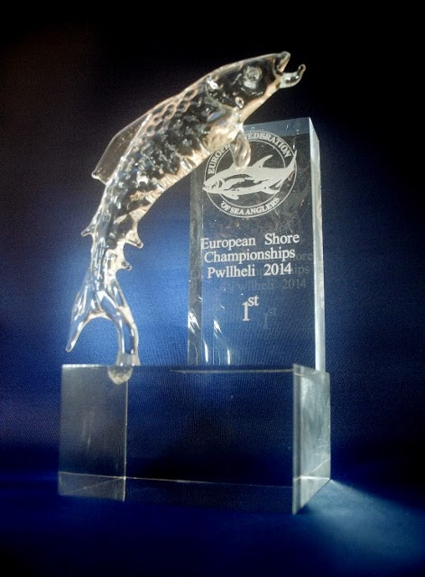 Glass fishing trophies