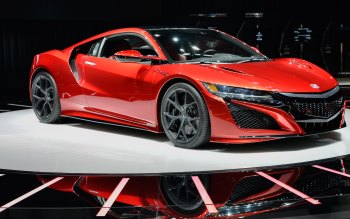 Wallpaper: Red Acura NSX