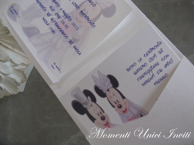 1e Partecipazione mod. Minnie e TopolinoPartecipazioni Pocket Tema Fiabe