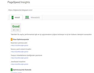 PageSpeed Insights  ile site hızınızı analiz edin kullanıcı dostu site için seo