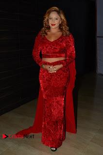 Actress Nikesha Patel Pictures in Red Dress at Araku Road Lo Audio Launch  0161.JPG