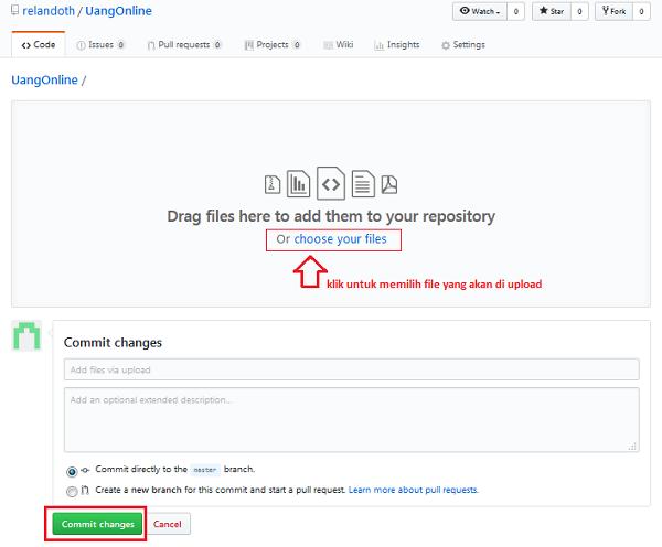 Cara Upload File JS HTML dan CSS di GitHUb