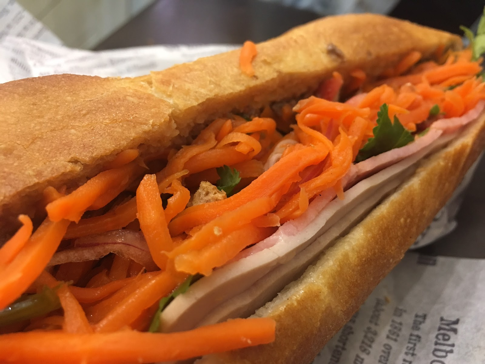 So While There S A Few Options Of Chicken Beef Roast Pork Grilled Pork Or Mushroom Today Steph And I Decide To Share The Classic Banh Mi 8 50