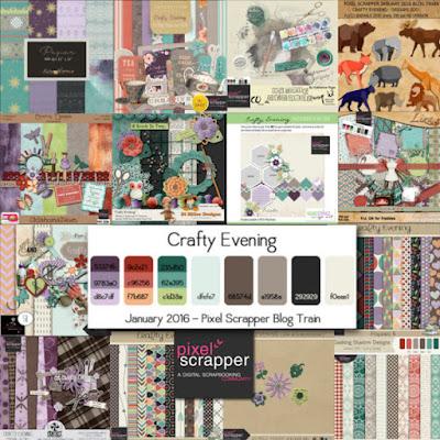 Pixel Scrapper - january 2016 blogtrain