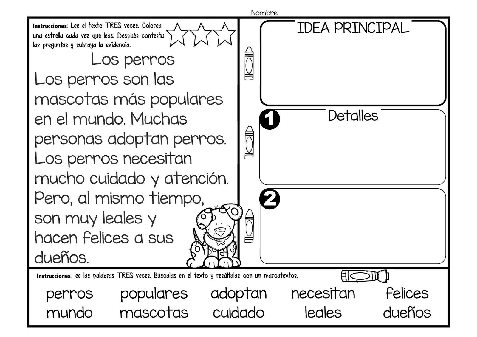 Dorable Encontrar La Idea Principal Y Los Detalles De Las Hojas De ...