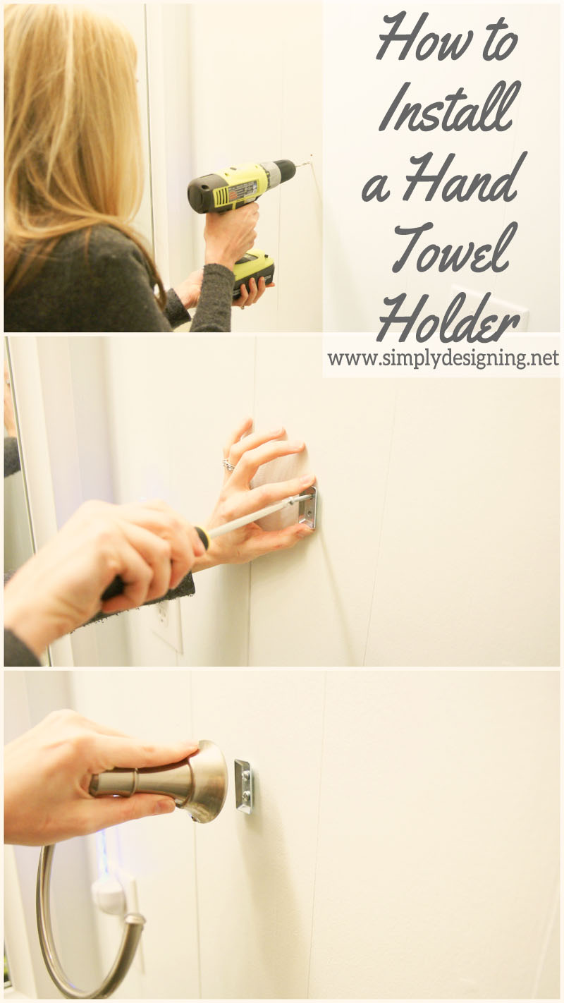 How to Install a New Hand Towel Holder | #diy #bathroom #bathroomremodel #remodel