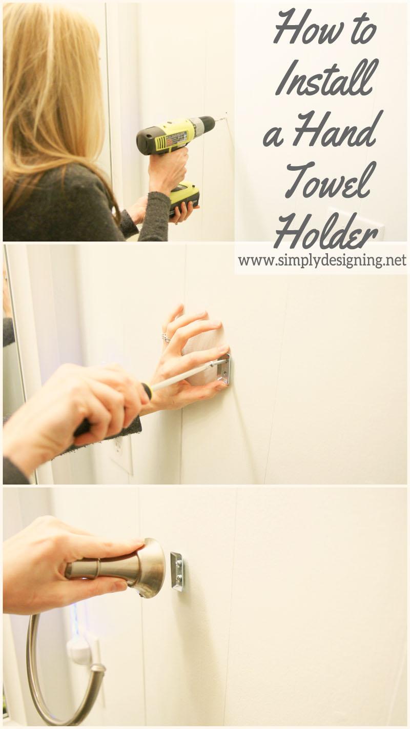 How to Install a New Hand Towel Holder | #diy #bathroom #bathroomremodel #remodel