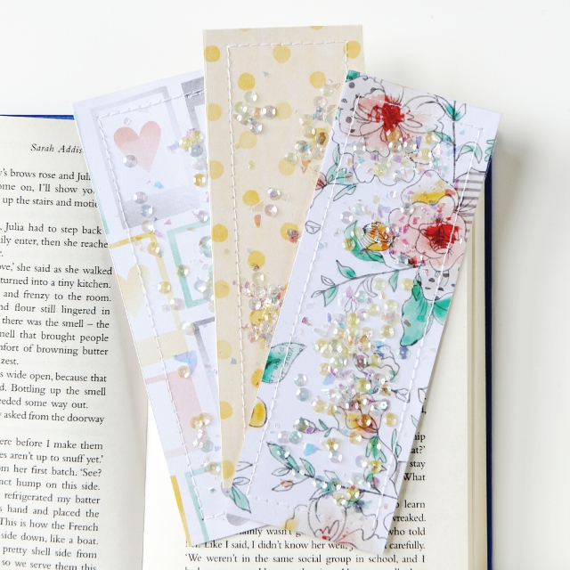 Diy Shaker Pocket Bookmarks