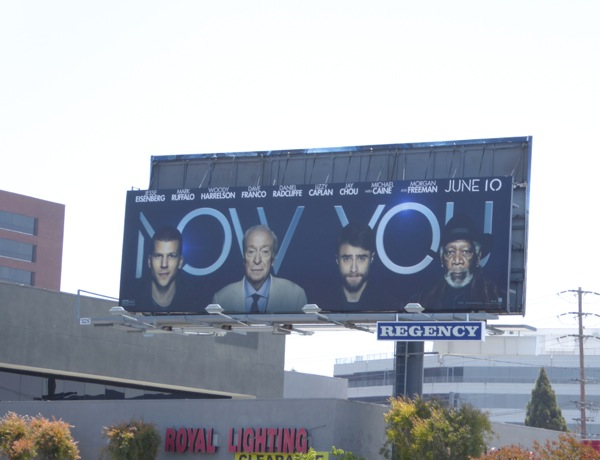 Split Now You See Me 2 movie billboard