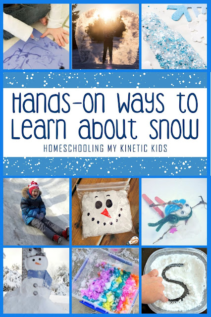 Hands-On STEM Ideas to Learn About Snow // Homeschooling My Kinetic Kids // Science // Technology // Engineering // Math // hands-on learning // winter fun // classroom // school