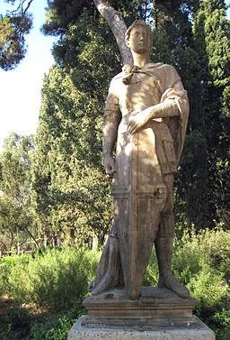 Parc de Sant Jordi (Terrassa), rèplica del Sant Jordi de Donatello  per Enfo (Obra pròpia) [CC BY-SA 3.0 (http://creativecommons.org/licenses/by-sa/3.0)], via Wikimedia Commons